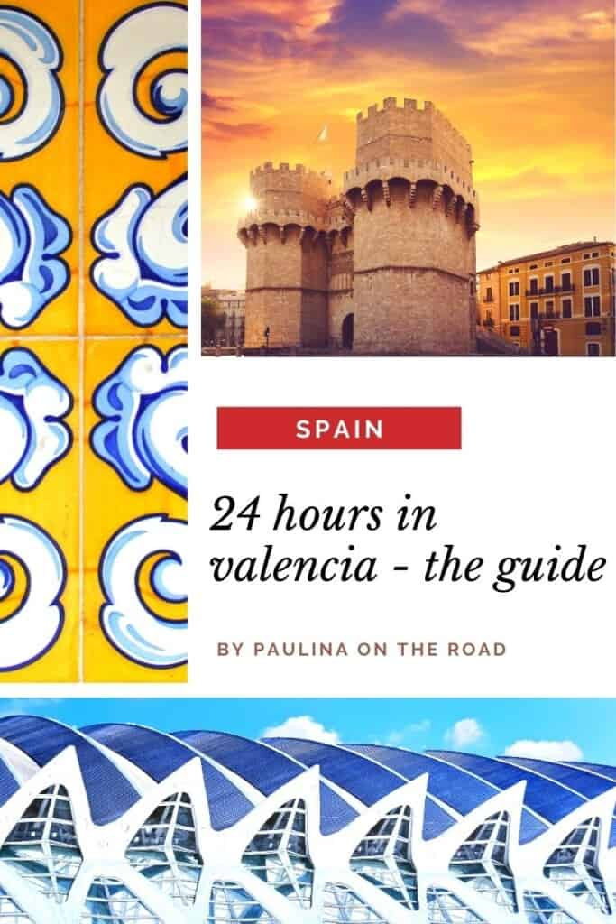 Are you wondering how to spend 1 Day in Valencia? This Valencia One-Day itinerary takes you in no-time to the best places in Valencia and shows you the best things to do in Valencia if you only have one day in Valencia, Spain. Find out about the best things to eat, monuments and sights. And of course, you can't skip Valencia's beaches! Fall in love with Valencia, Espana and spend an unforgettable trip to Valencia, Spain. #spain #valencia #1dayinvalencia #onedayinvalencia #paellavalencia #beach