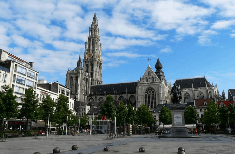 One of the main cities of Belgium, City view of Antwerp, day trip to antwerp from brussels