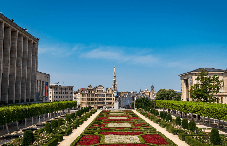 Most beautiful places in Belgium, City view of Brussels
