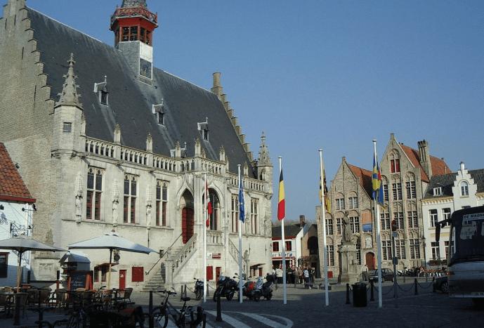 Top cities in Belgium, City view of Damme