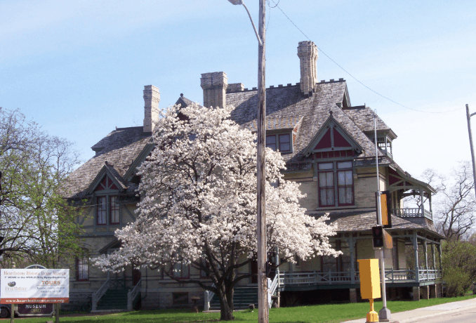 Top Places to Visit in Appleton, Wisconsin, Front view of Hearthstone Historic House Museum