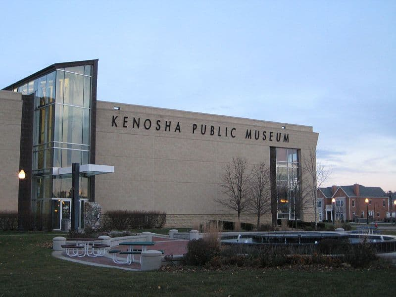 beautiful and historical place in Kenosha, front view of kenosha public museum