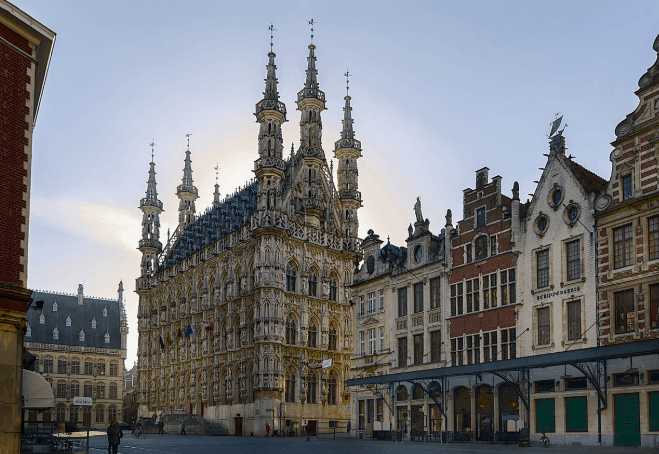 Interesting city in Belgium to visit, City view of Leuven, day trip from brussels to leuven, louvain