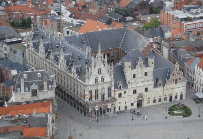 Best monuments in Belgium, City view of Mechelen, brussels day trip to mechelen