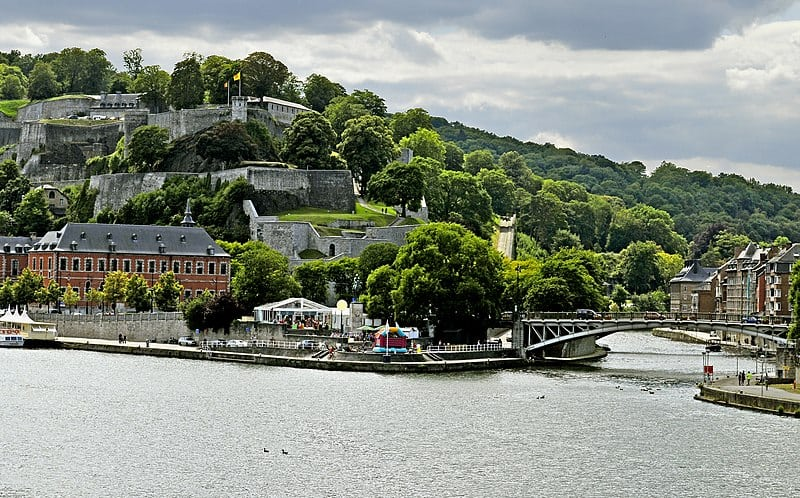 Best tourism City in Belgium, Lake side city view of Namur, day trip from brussels to namur