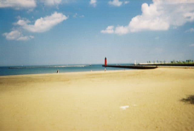 Best beaches in Kenosha,view of Simmons Island Beach
