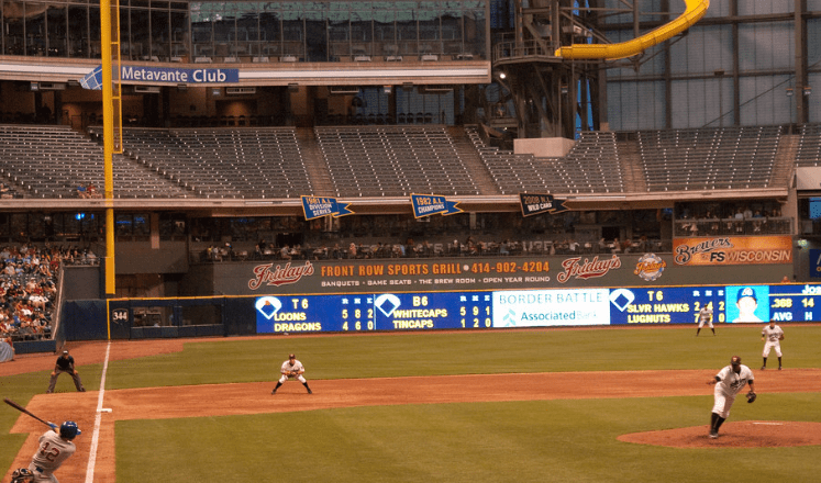 fun things to do in Appleton wisconsin,  View of live Timber Rattlers baseball game