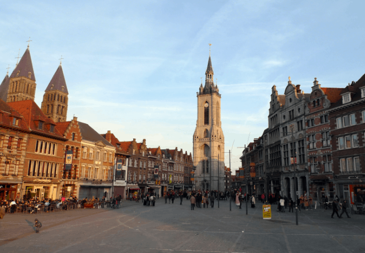 Oldest and largest cities in Belgium, City view of Tournai, brussels day trip to tournai