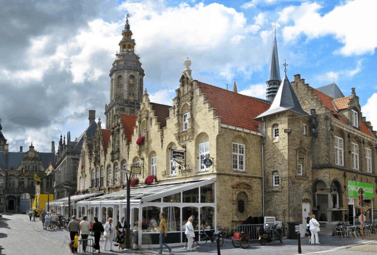 Best cities to visit in Belgium, view of Veurne