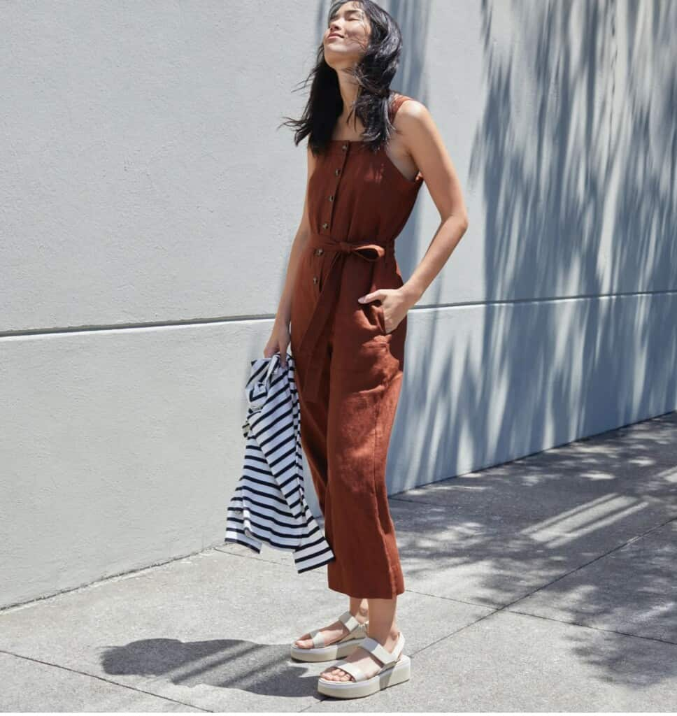 everlane sustainable fashion brand organic cotton