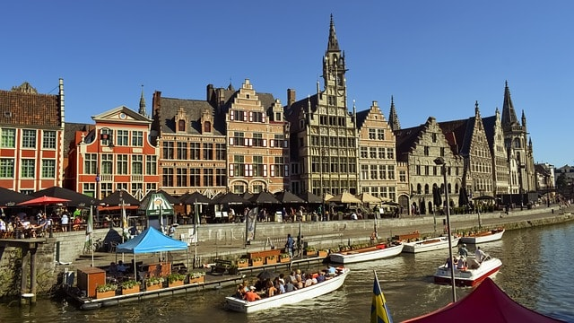 The best places to visit in Belgium, city view of Ghent