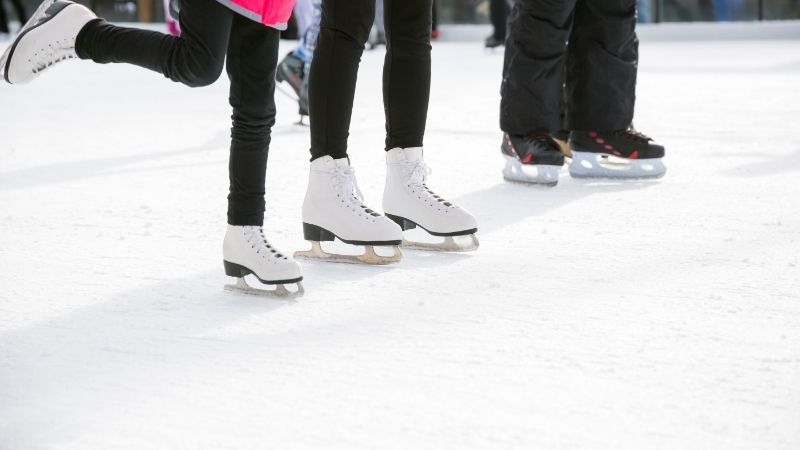 winter getaways in wisconsin for families, ice skating