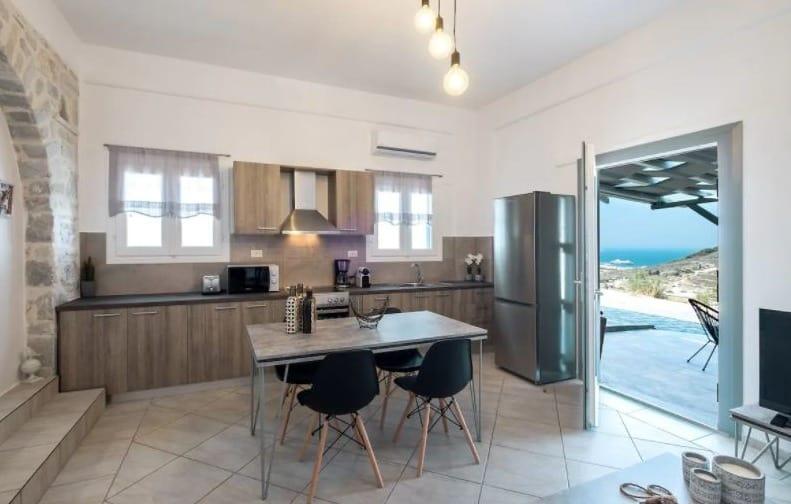 Best Holiday Villas near Parikia, Paros island, beautiful view of Villa Haritomeni