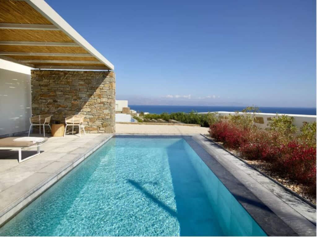 Best Luxury Hotels in Paros, Greece, best view of Summer Senses Luxury Resort