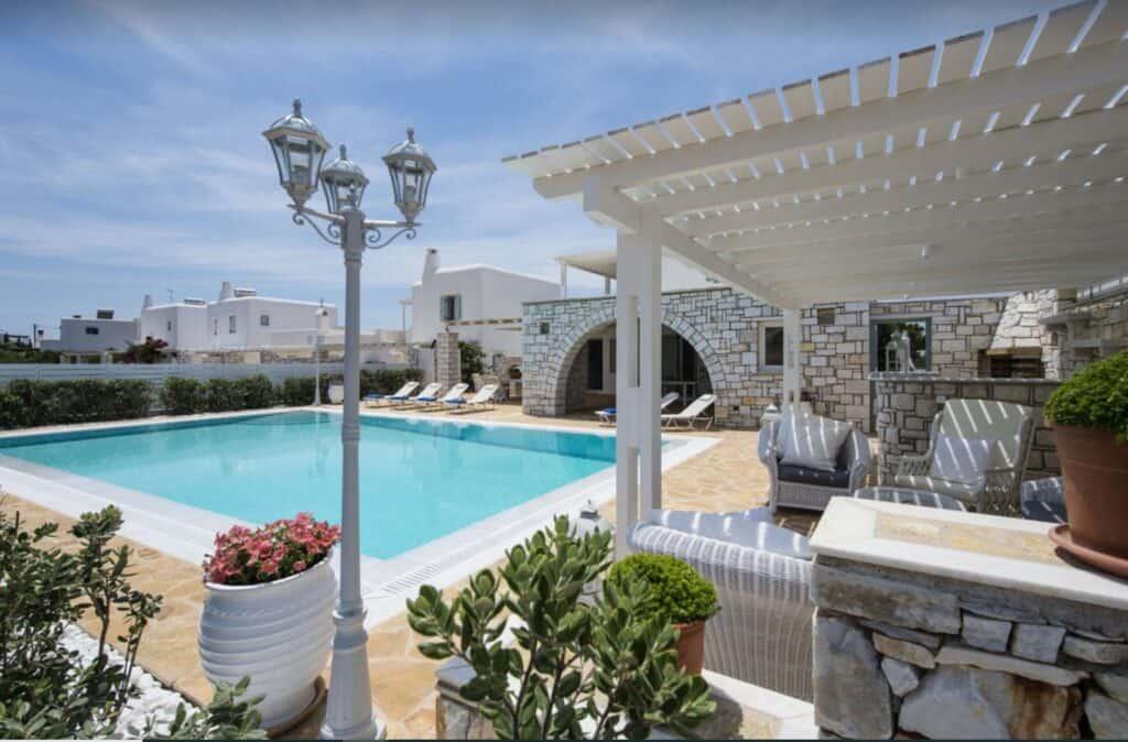 aliki villa with pool paros
