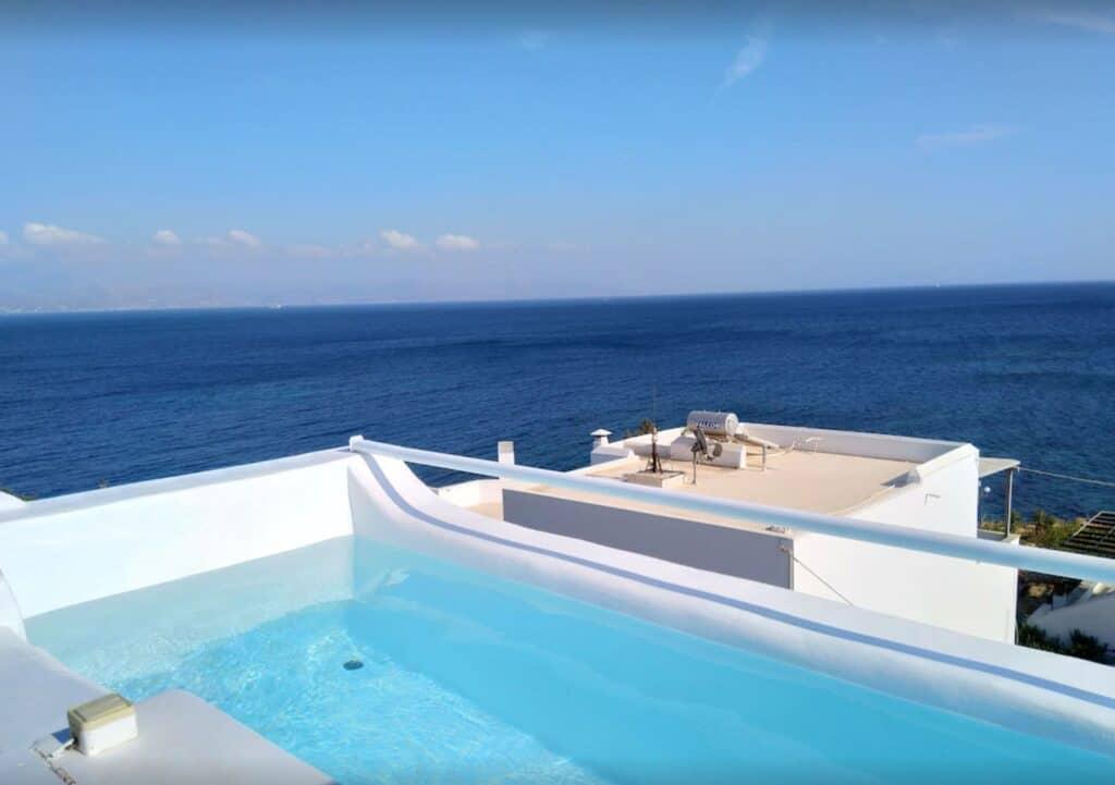 luxury villa in paros with pool