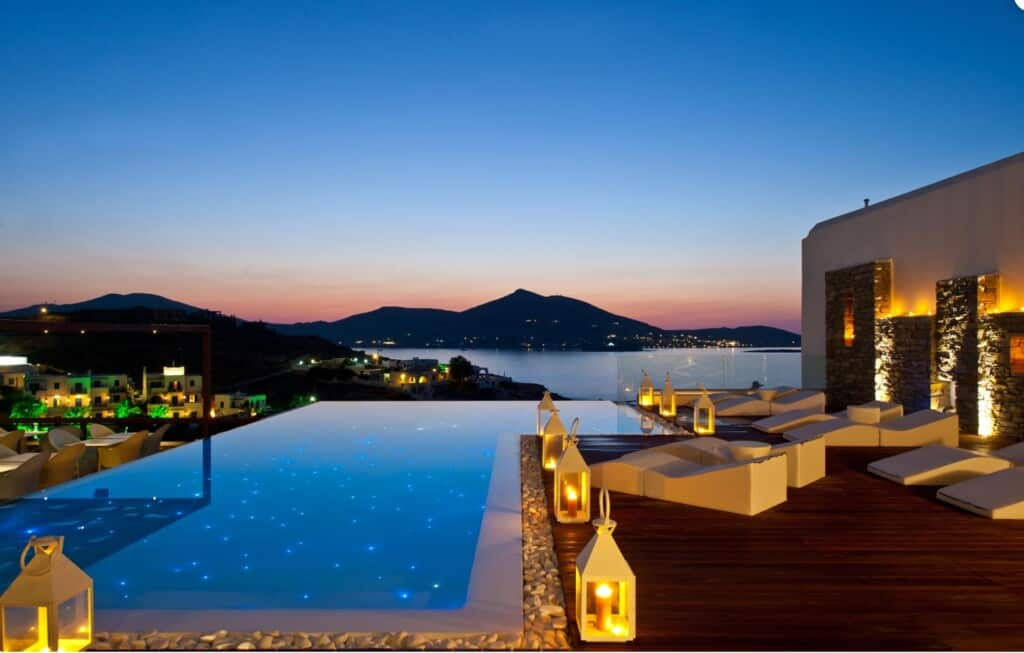 Great place for luxury stay in Paros, Beautiful view of Hotel
