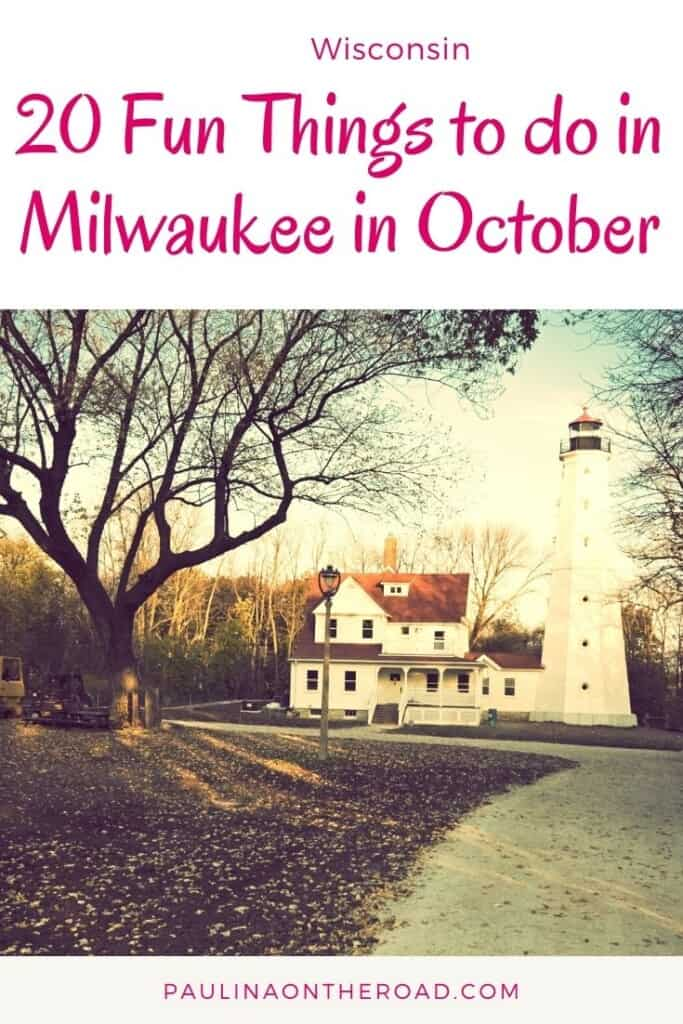 Are you wondering what to do in Milwaukee in October? Don't worry, I've created an extensive list of the best things to do in Milwaukee in October including fall festivals such as the legendary Milwaukee Oktoberfest, how to celebrate Halloween in Milwaukee, or cool fall getaways near Milwaukee, Wisconsin. Milwaukee in the fall is one of the best ideas during this October! #wisconsin #october #milwaukee #milwaukeeoctober #milwaukeefall #halloweenwisconsin #citytrip #wisconsinfall #usaoctober