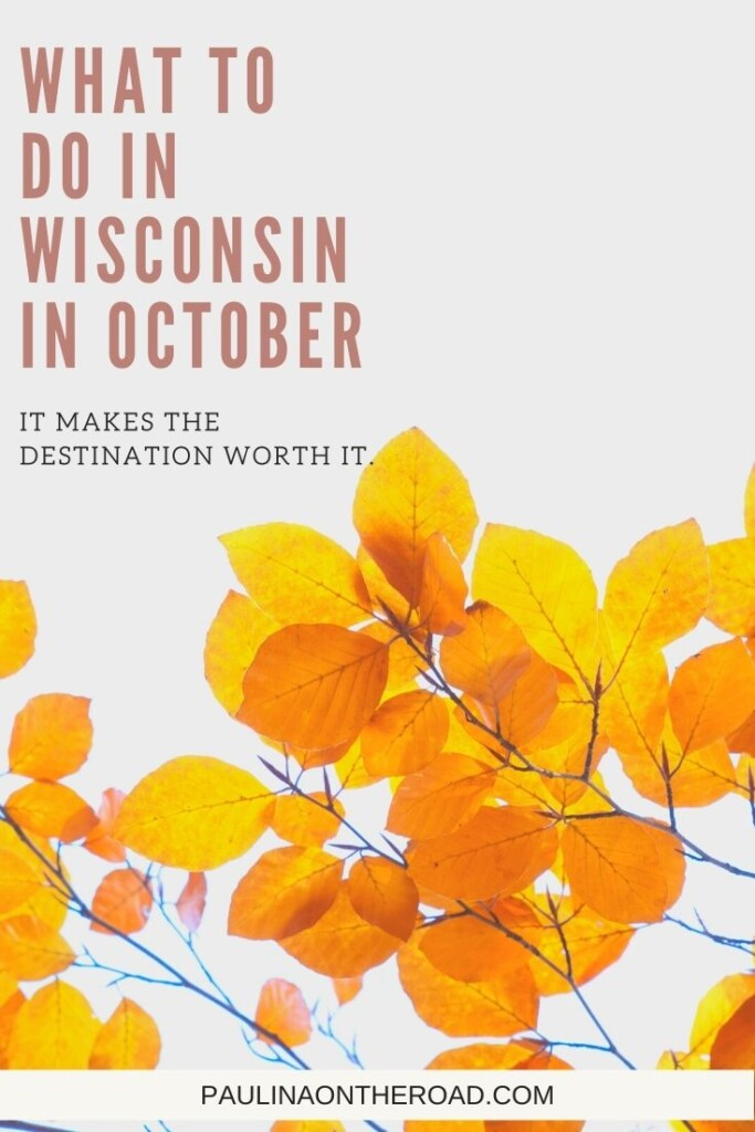 Are you looking for amazing things to do in Wisconsin in October? Explore the Badger State in fall with this ultimate guide on what to do in Wisconsin in October. From fun fall festivals in Wisconsin, things to do in Door County, Wisconsin in October or a getaway to Wisconsin Dells in October.... I got you covered! Oh, you still have no plans for Halloween in Wisconsin? I share my favorite haunted and ghost tours in Wisconsin too. #wisconsin #wisconsinoctober #wisconsinfall #halloweenwisconsin