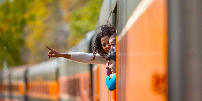 Best vacation spots in Wisconsin, Some people looking out of the train