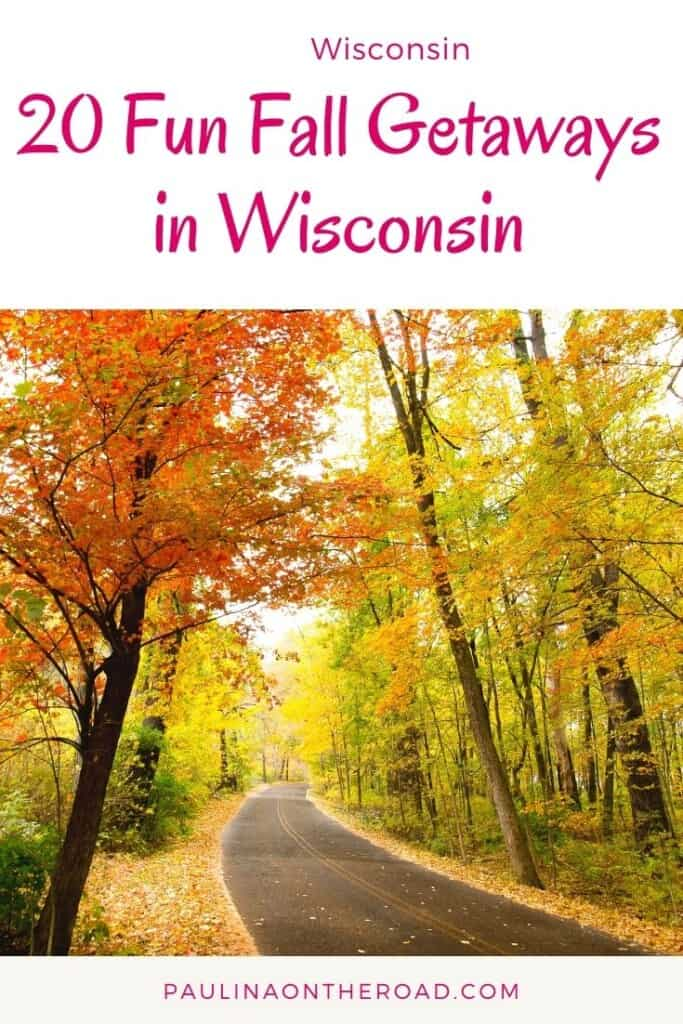 Are you looking for cool Wisconsin fall trips? This is the ultimate guide on great Wisconsin fall getaways to take this year! Whether you want to enjoy Wisconsin fall colors or do unique fall hikes in Door County or do a fall getaways to Lake Geneva - this guide provides you all the inspiration to make this the best Wisconsin fall ever! Fall in Wisconsin is the perfect opportunity for a getaway with your beloved ones. #wisconsin #wisconsinfall #fallfoliage #falltrips #fallgetaways #doorcounty