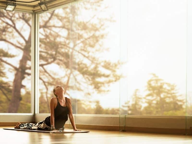 yoga inside retreat