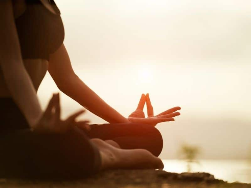 yoga sunset spiritual retreat