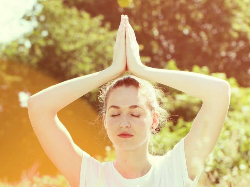 yoga woman spiritual retreat