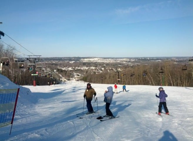 Winter family getaways in wisconsin, View of Granite Peak Ski Resort, Rib Mountain