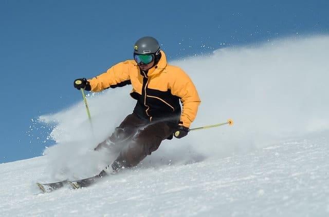 Ski Resorts in Wisconsin, A men Using Ski