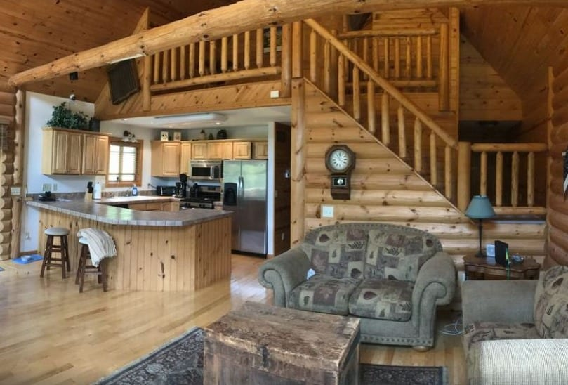 Romantic wisconsin cabins, inside view of The Driftless Escape! – Richland Center