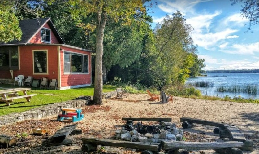 Door county cabin in the woods, lake View of Waterfront Home for All-Seasons  – Sturgeon Bay, Door County