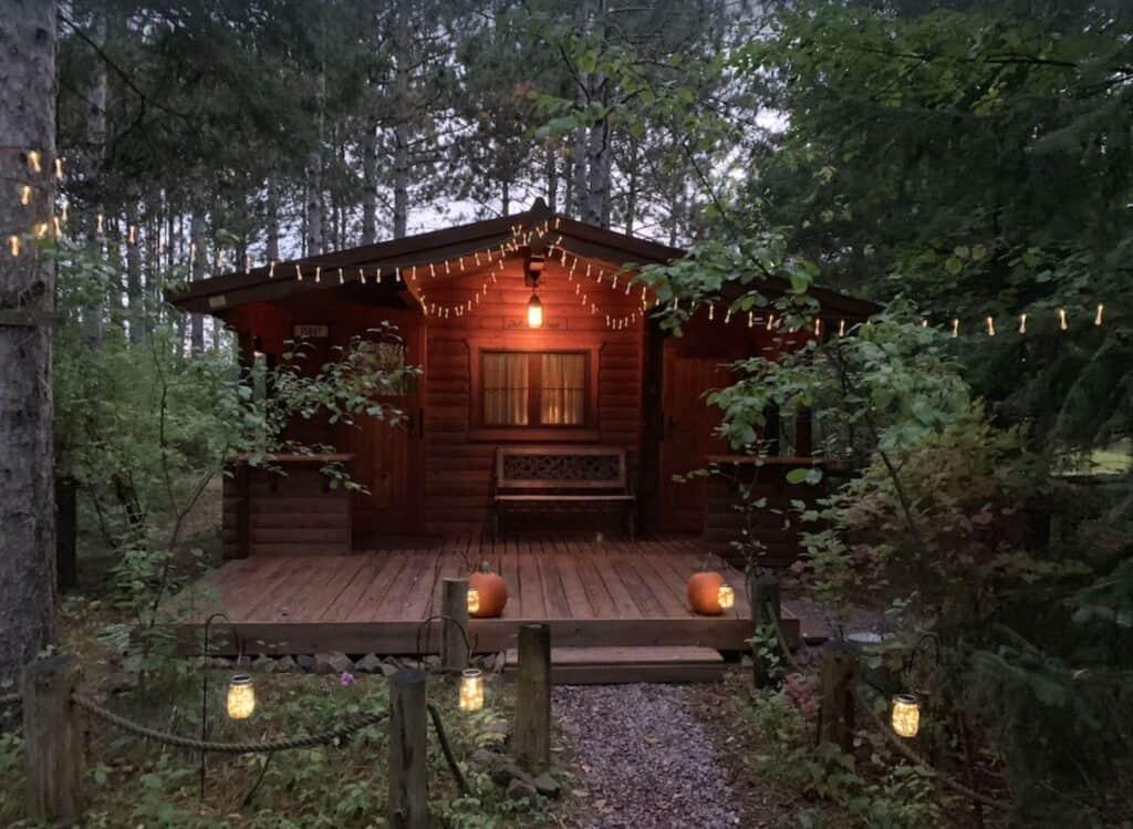 winter cabin in wisconsin