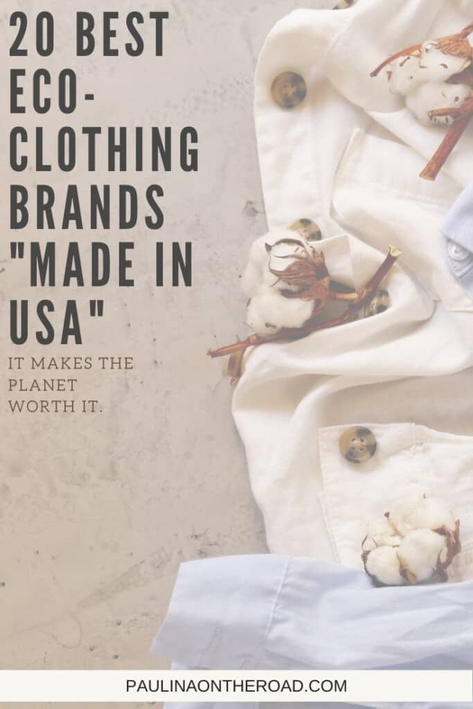 """Are you looking for the best organic clothing """"made in USA""""? Get the ultimate list with eco-fashion brands made in USA. No matter whether you are looking for organic clothing for women, organic clothing for children or eco-frienldy clothing brands for outdoor activities, there is always an organic fashion option, made in USA. Indeed, organic clothing style Made in USA can be fashionable and eco-conscious. These organic clothing brands are for every budget, luxury and affordable eco-fashion."""