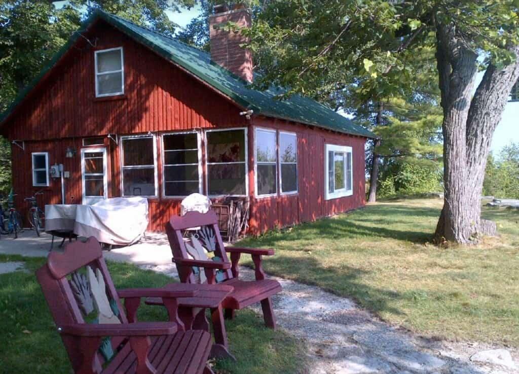 swedish style waterfront cabin wisconsin