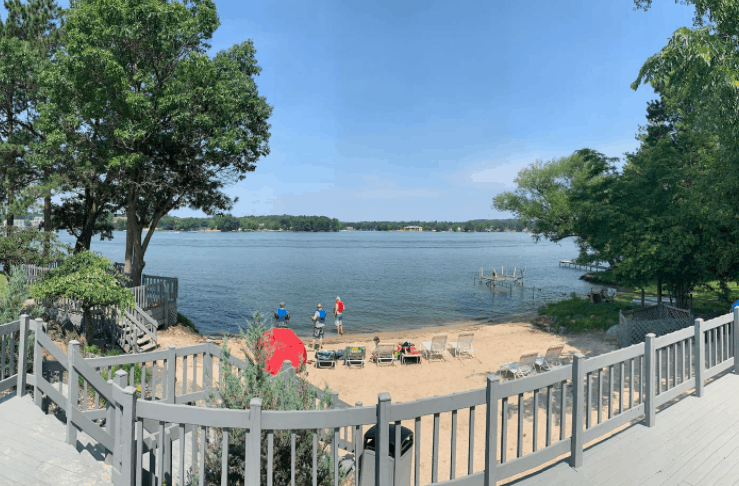 best airbnb in wisconsin for couples, Lake side view of  Romantic Lakefront Condo