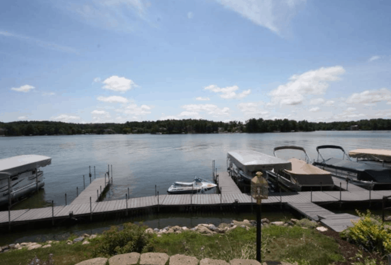 Best Airbnbs in Wisconsin Dells, WI, View from condo patio