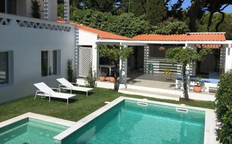 Best Airbnb in Algarve for Friends, Pool Side view of Luxury Beach House