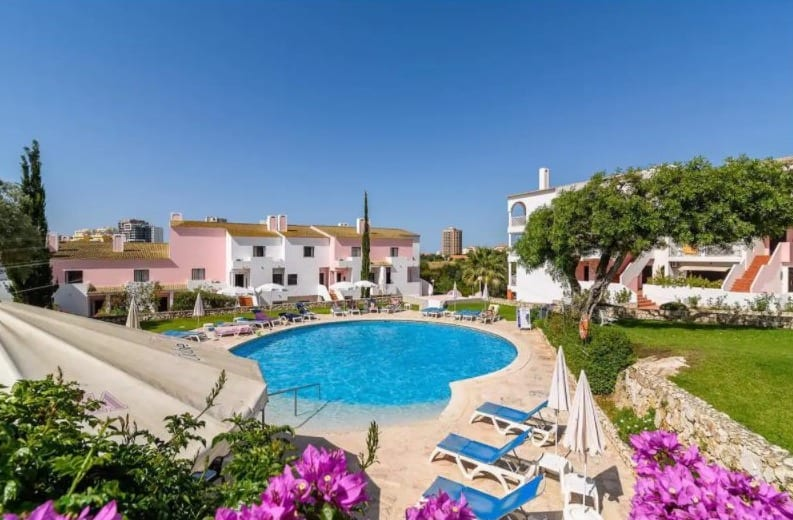 Best Algarve Airbnb for Solo Travelers, Pool side view of BeHappy Paradise
