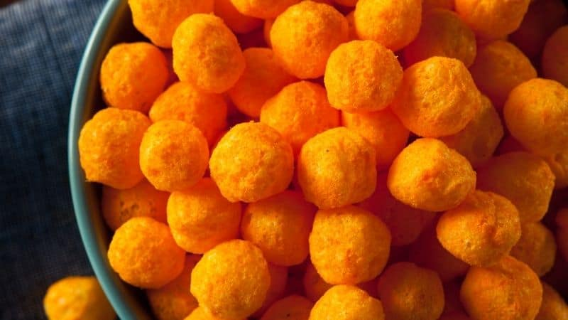 Common spanish christmas food, View of Tetilla Cheese Puffs