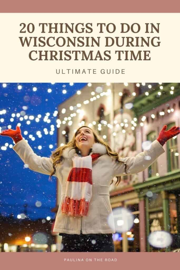 Wondering how to spend Christmas in Wisconsin? This is the ultimate guide with things to do in Wisconsin at Christmas Time including the best Christmas Towns in Wisconsin, such as Christmas in Cedarburg which has one of the best Christmas Lights Festivals in Wisconsin or plan a getaway to Christmas Mountain Village, Wisconsin. When looking for a Wisconsin Christmas vacation, you'll find plenty of inspiration for Wisconsin Christmas Cabins. #Wisconsin #wisconsinwinter #wisconsinchristmas #usachristmas