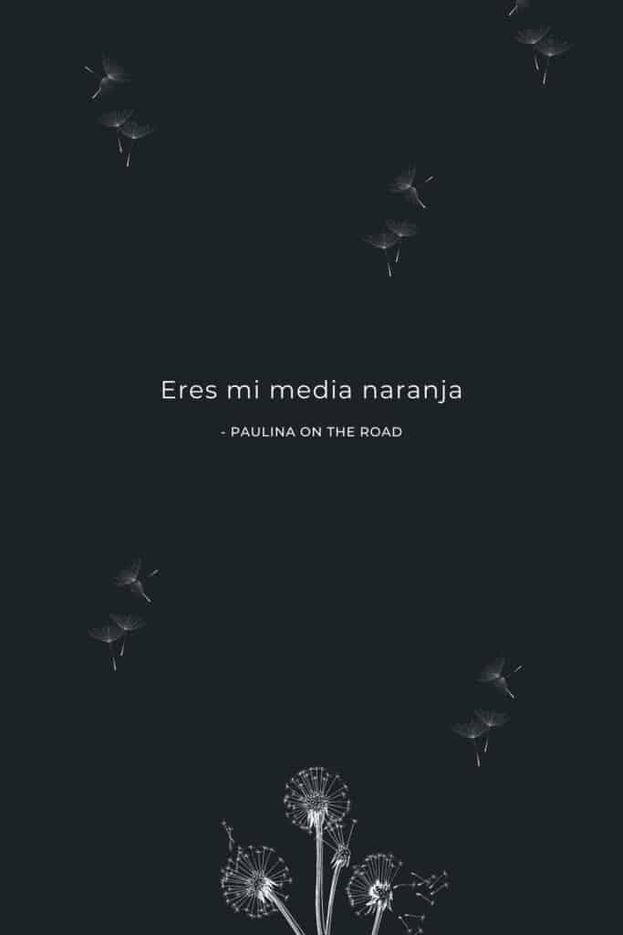 romantic spanish phrases (12), Eres mi media naranja