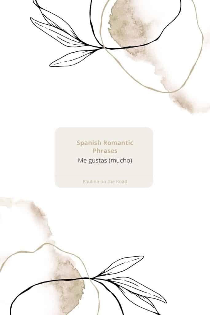 romantic spanish phrases (8), me gustas mucho