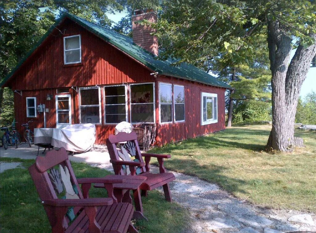 swedish waterfront cabin door county