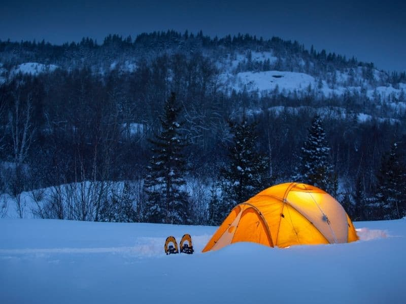 Winter Camping in Wisconsin