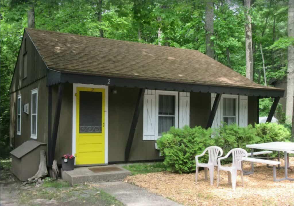 camping cabin door county wisconsin