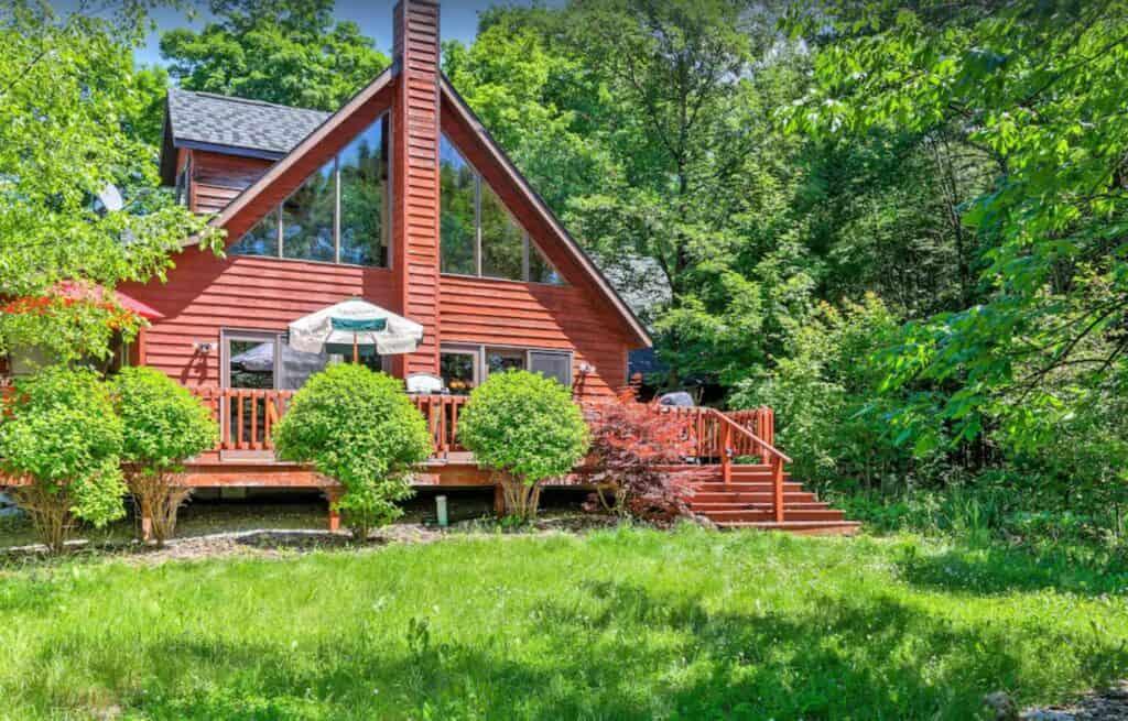 luxurious door county cabin wood