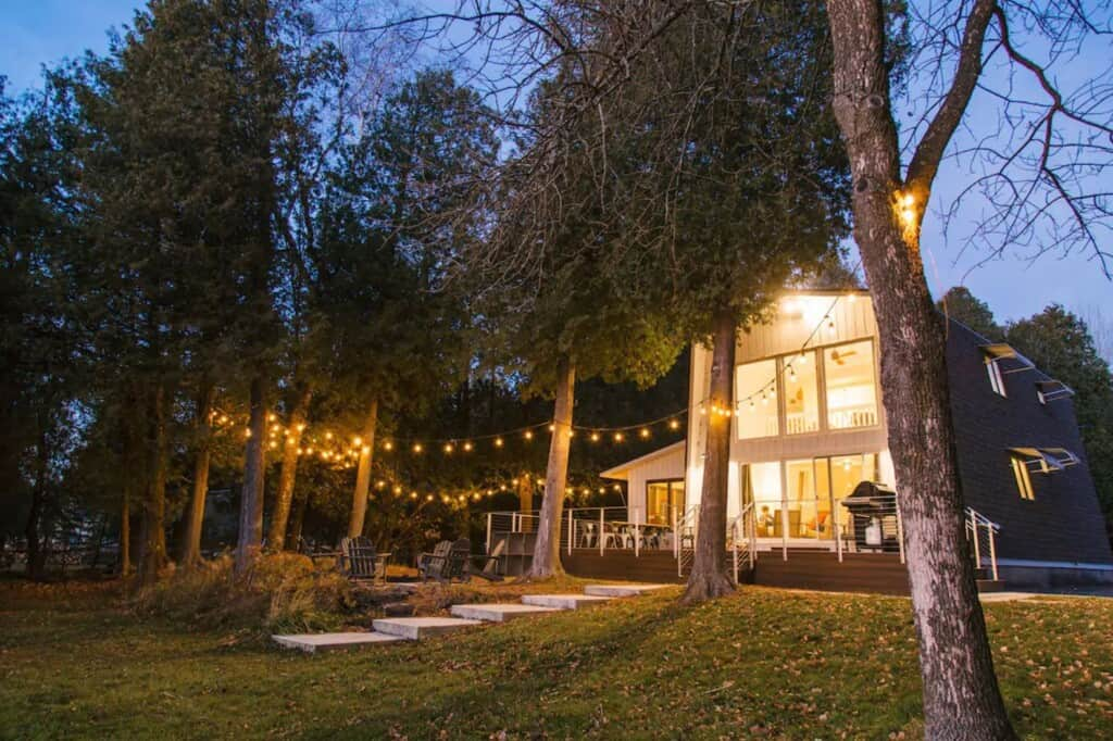 modern water front rental cabin in door county wisconsin