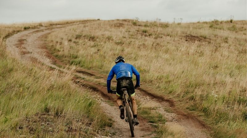 most popular mountain biking trails in Wisconsin, A man riding a bike on a mountain