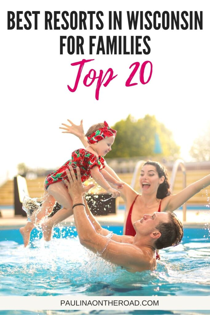 Are you hoping to spend your next family vacation in Wisconsin? Here is a comprehensive guide to the best family resorts in Wisconsin no matter your budget. Includes resorts in Wisconsin Dells, Door County, Lake Geneva, and all-inclusive options. #Wisconson #FamilyVacation #FamilyResorts #USATravel #Resorts #WisconsinDells #DoorCounty #LakeGeneva #FamilyVacay #WaterParks